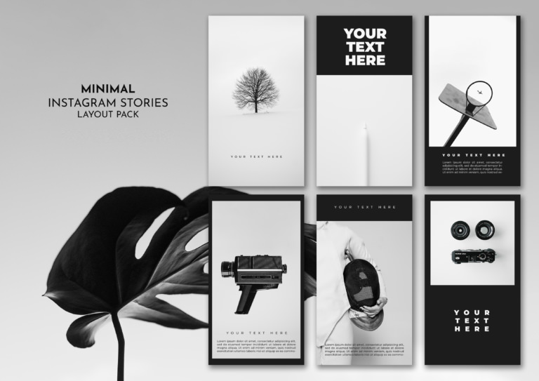 Minimal Instagram Stories Template Layout Pack