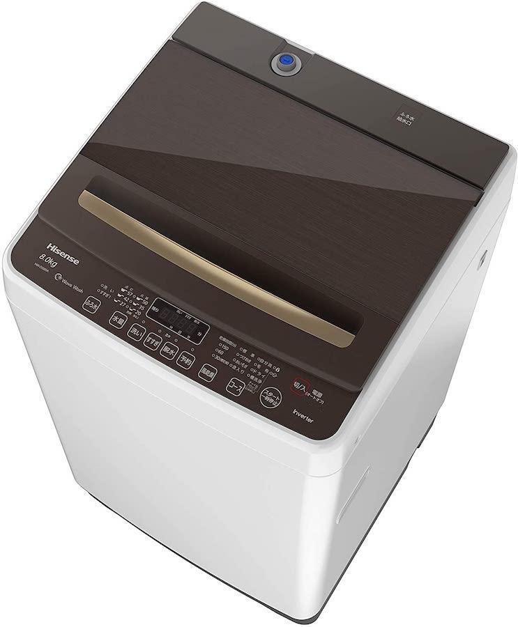 ハイセンス 全自動洗濯機 8キロ HW-DG80A