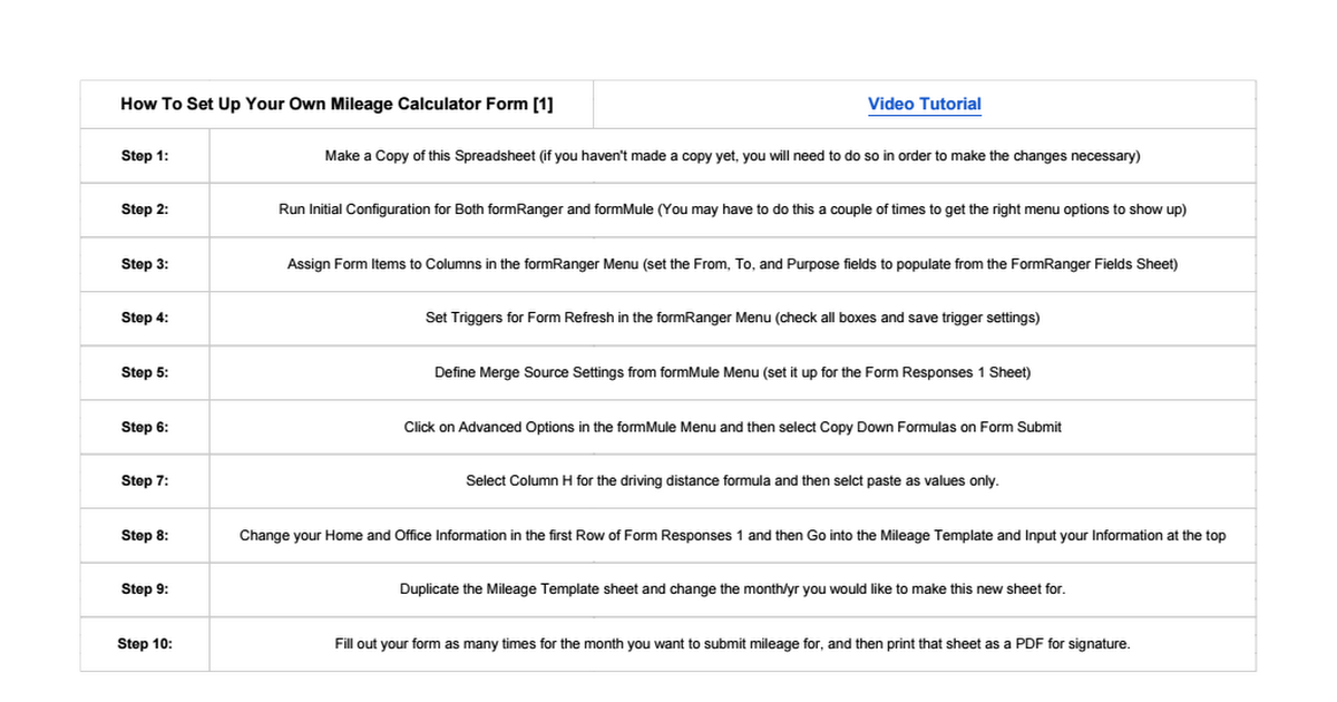 dps mileage calculator form spreadsheet template google sheets