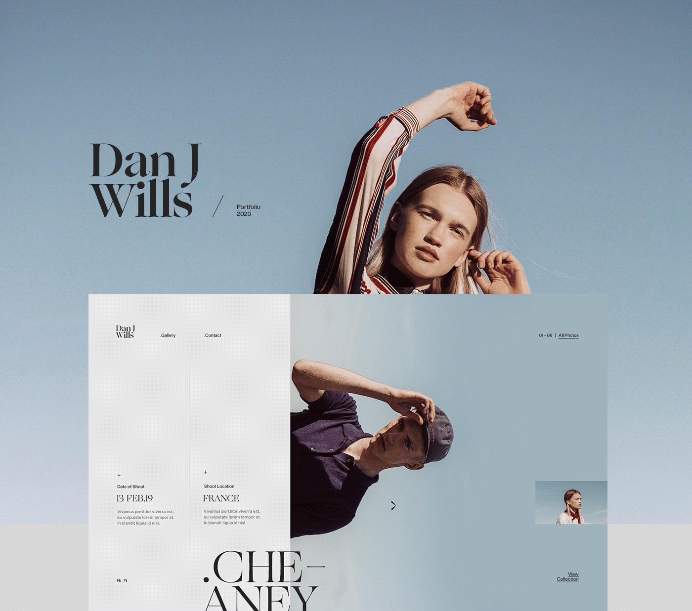 Beautiful Editorial Look Web Design by Anthony Goodwin