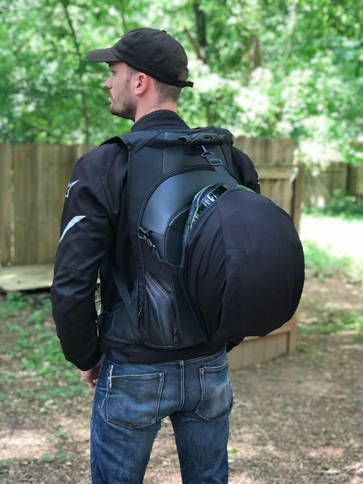 vikingbags axe motorcycle backpack exterior