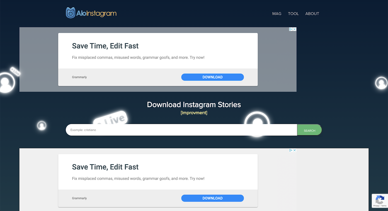 download instagram stories with alo download