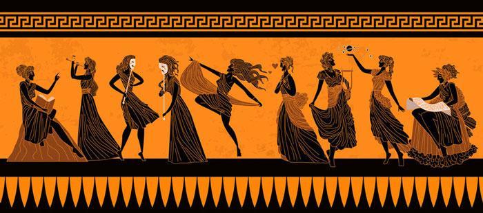 336 front700 Greek Muses Thalia Cleo DP matintheworld