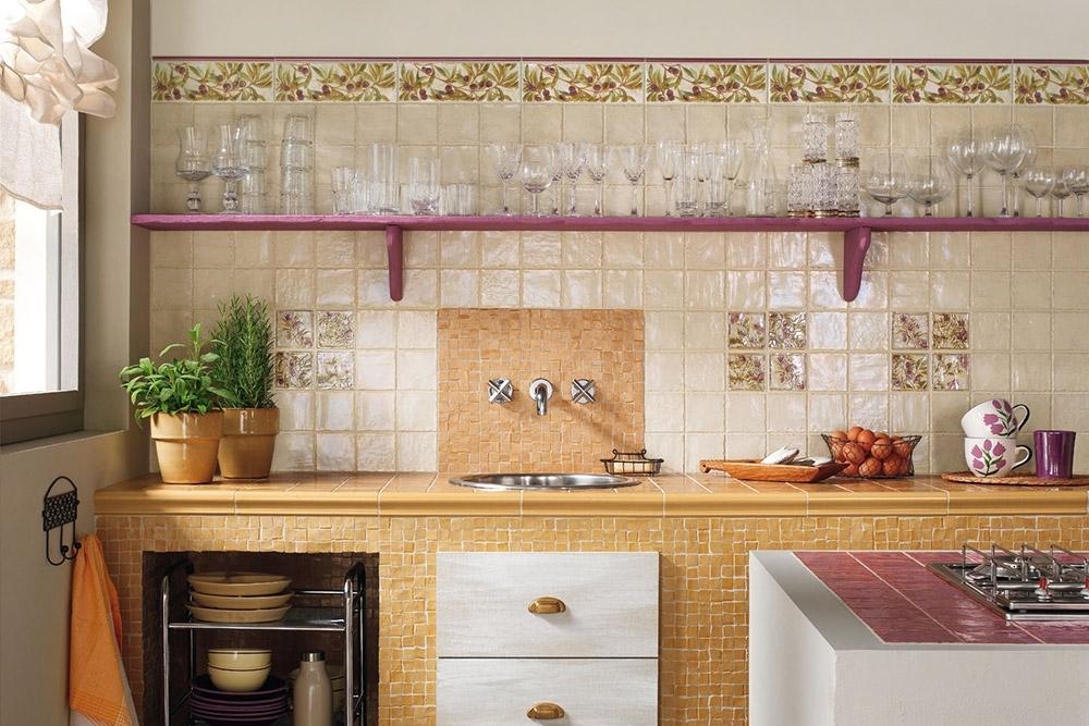 Mẫu gạch ốp tường bếp đơn giản