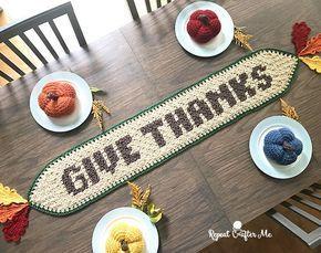 table runner crochet pattern for thanksgiving