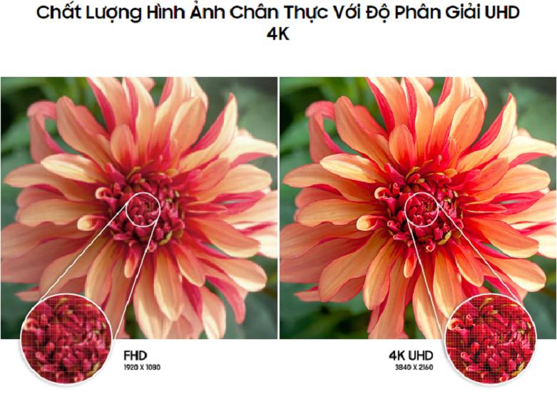 Smart Tivi Samsung 4K UHD 50 inch UA50AU8000KXXV | Chất lượng hình ảnh chấn thực