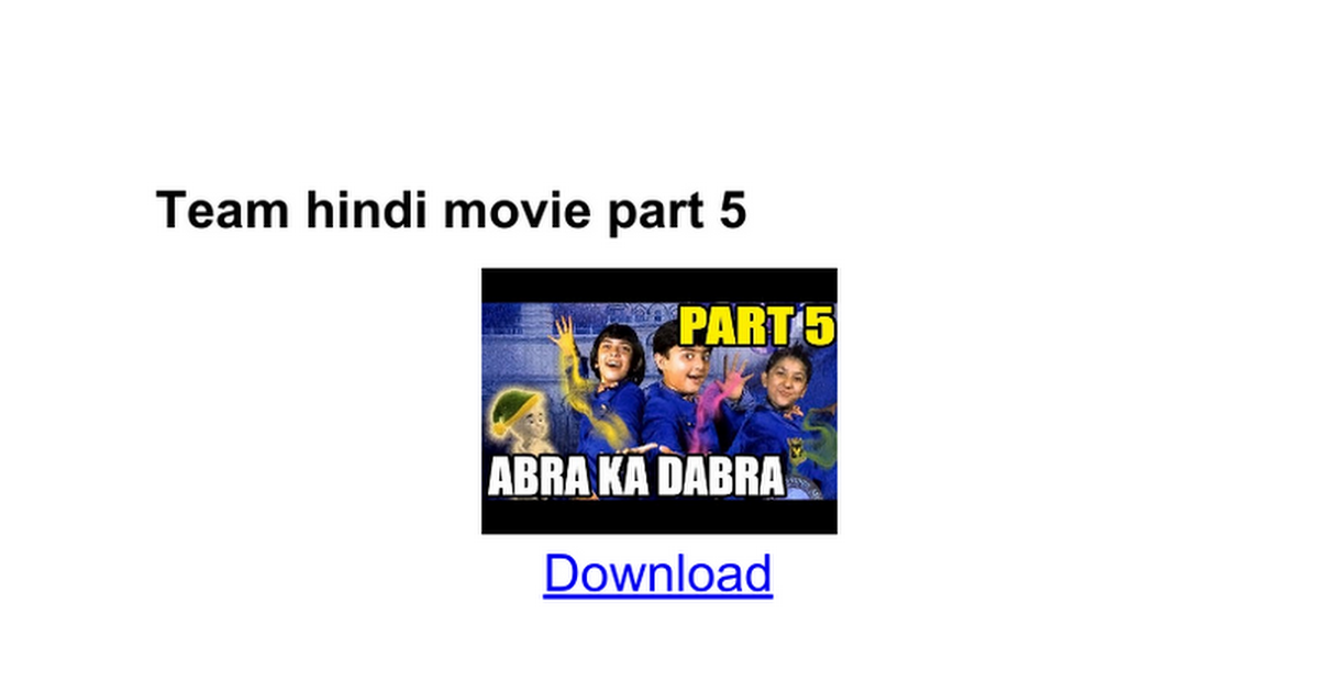 Team hindi movie part 5 - Google Docs