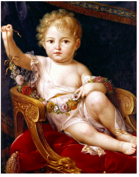 Image of Napoleon II (1811 - 1832), king of Rome, son of emperor Napoleon 1st and empress Marie Louise, duke of Reichstadt in 1818, here in 1811, (oil on canvas) © Tallandier / Bridgeman Images