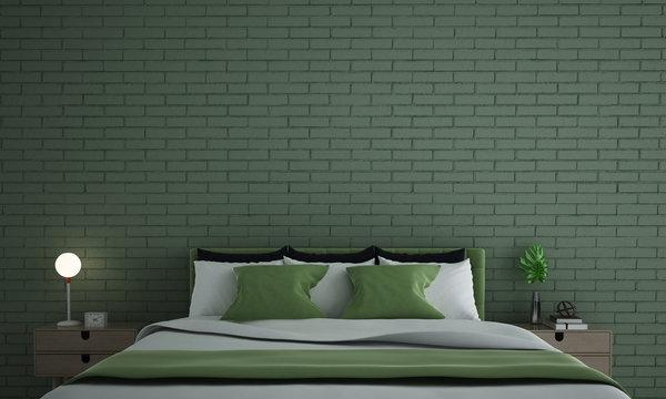 Green Exposed Brickwork