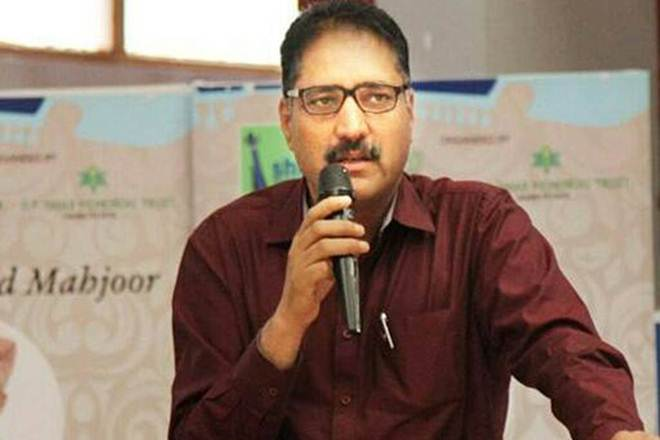 Image result for shujaat bukhari