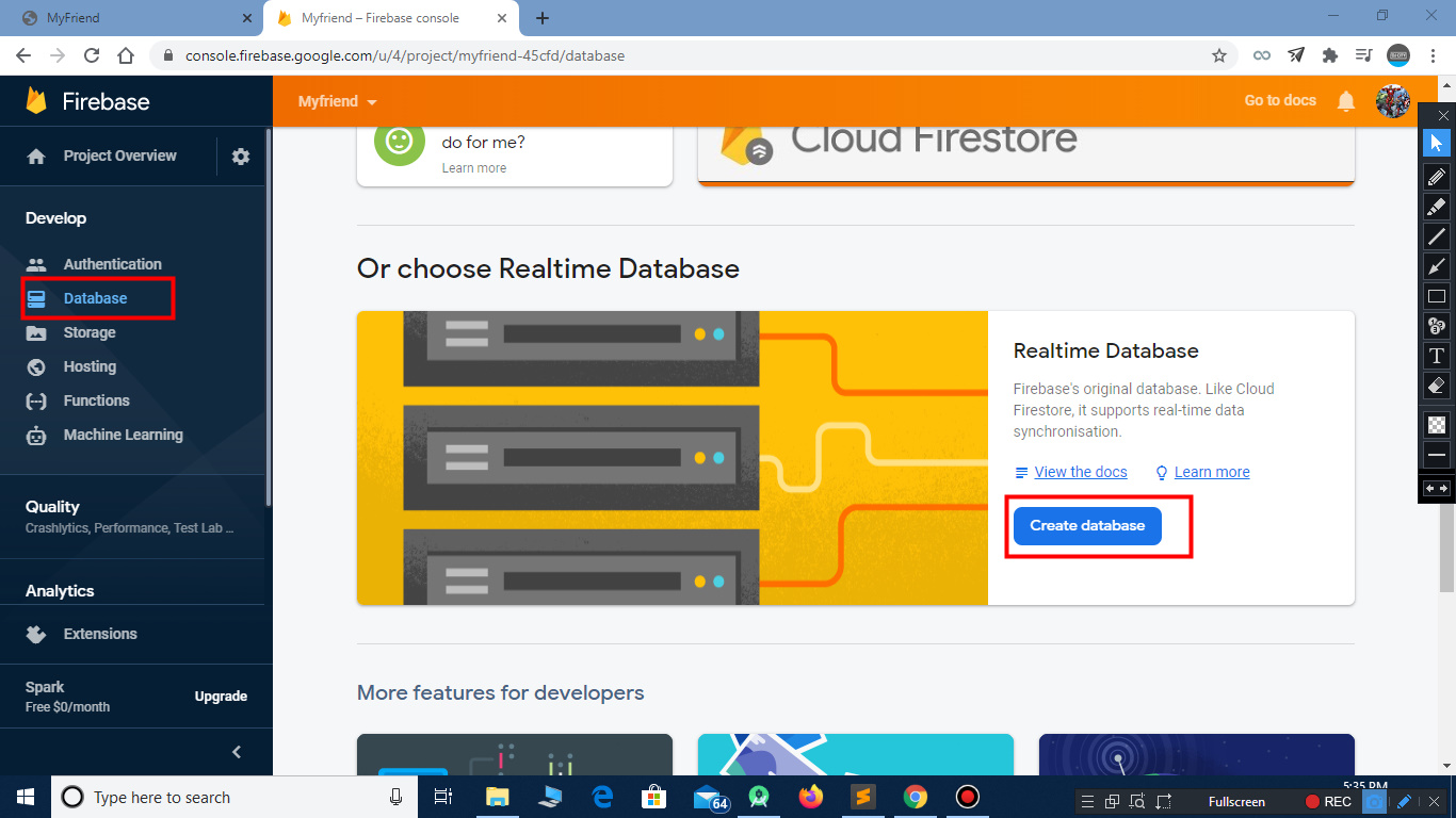 how to connect firebase to an app
