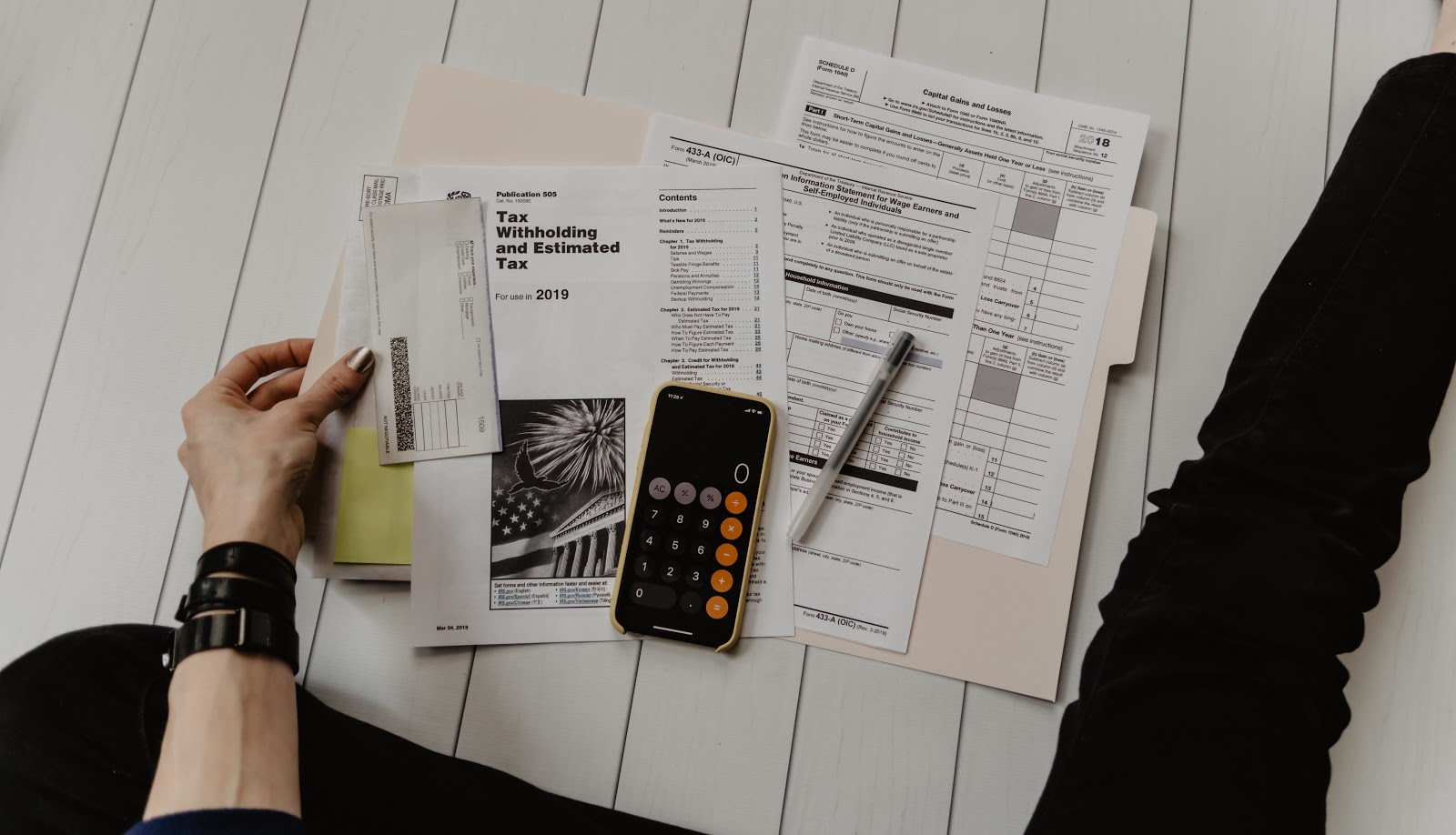 a woman managing her taxes