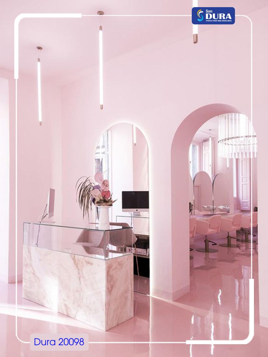 Sơn nhà màu tím hồng