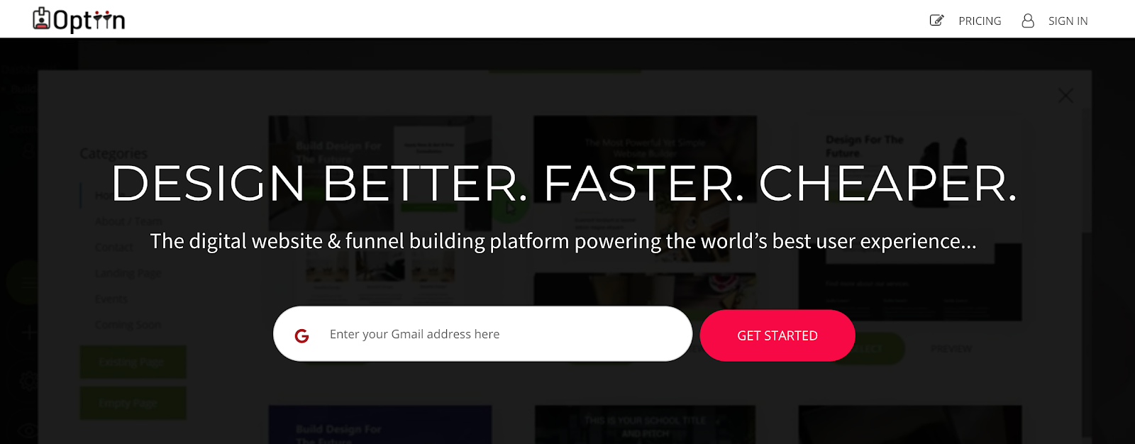 Optiin Influencer Program | Website & Funnel Builder