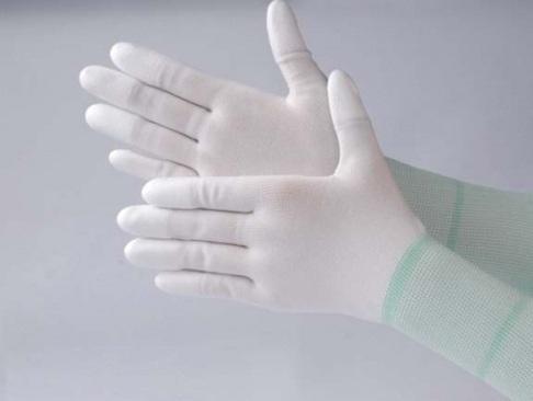 Găng tay sợi nylon phủ PU đầu ngón tay