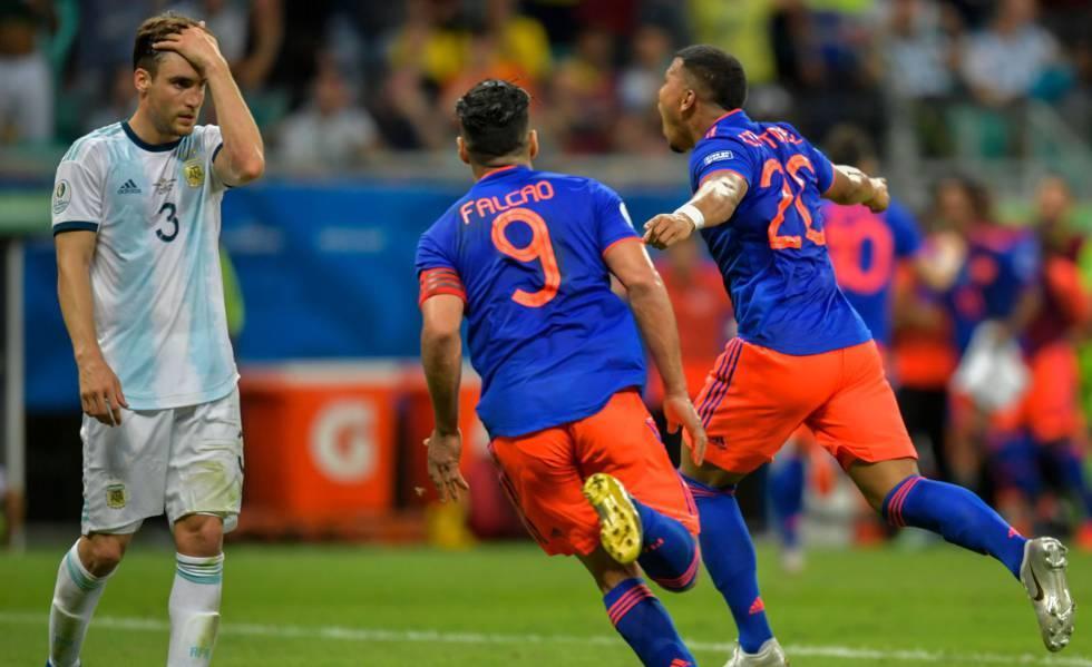 Resultado de imagem para colômbia x argentina copa america 2019