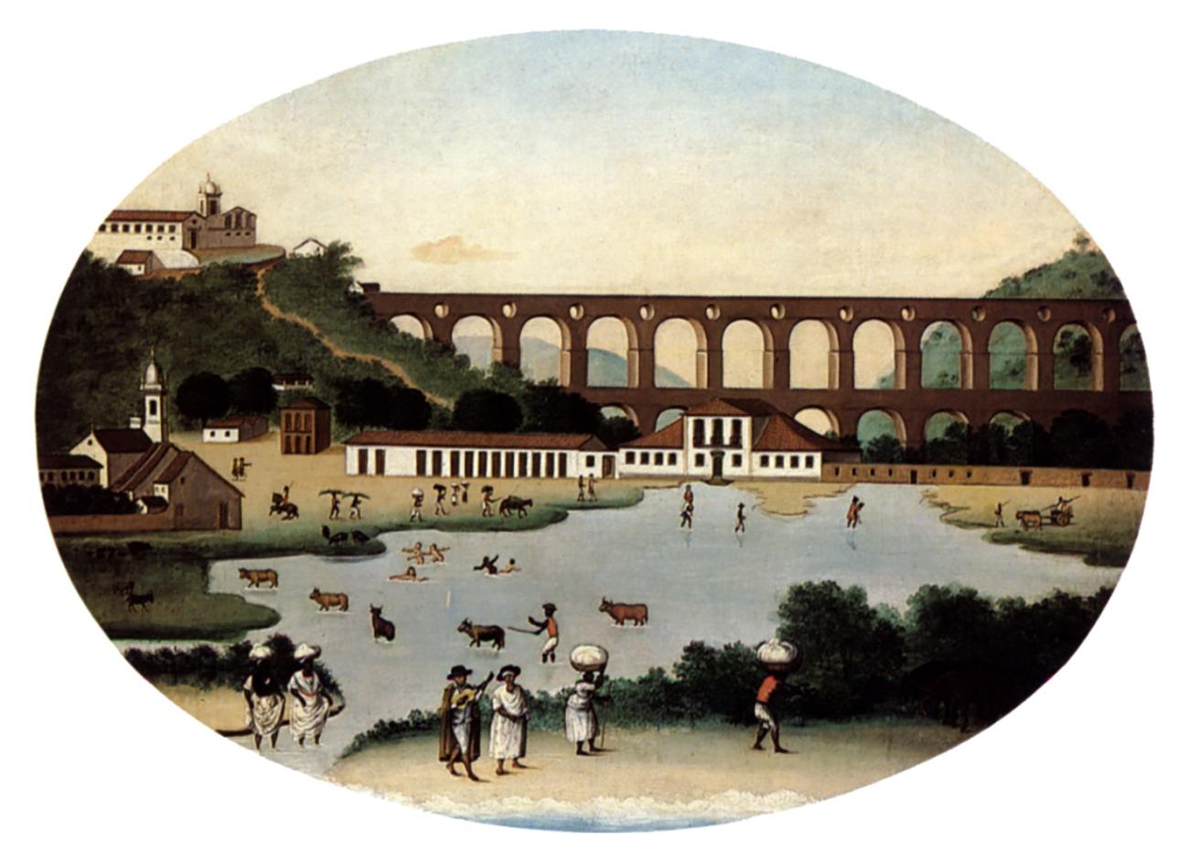 gravura do arcos do rio de janeiro