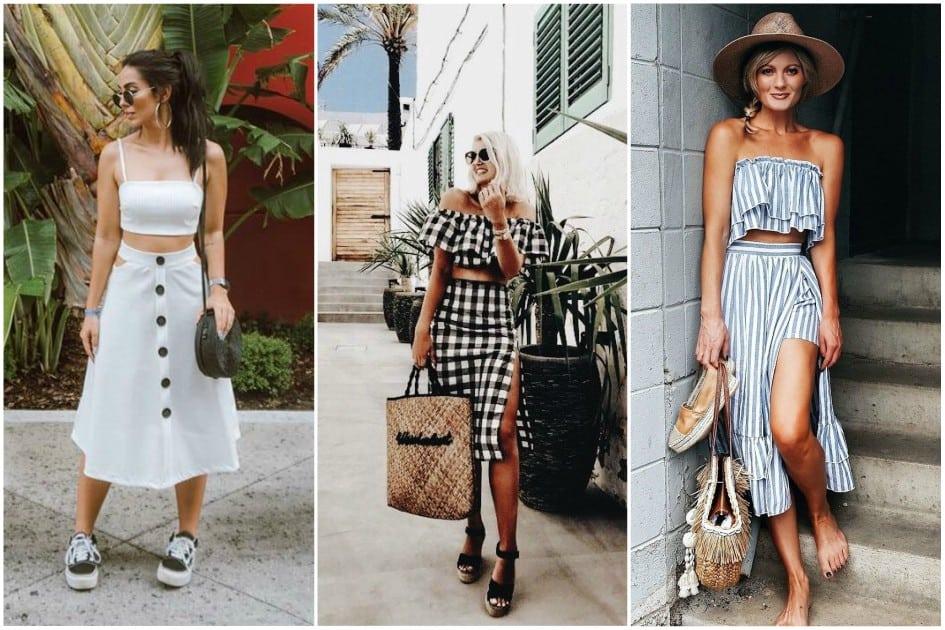 Conjunto de saia e blusa: uma aposta certeira para o verão