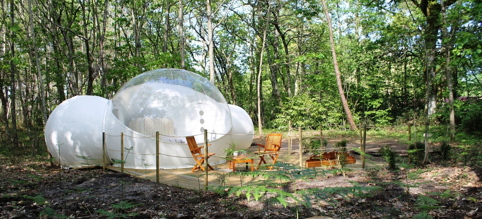 Where to go camping bubble tent Campspace France
