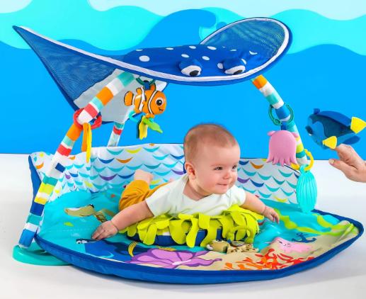 Bright Starts Disney Baby Finding Nemo Ray Ocean Lights & Music Gym
