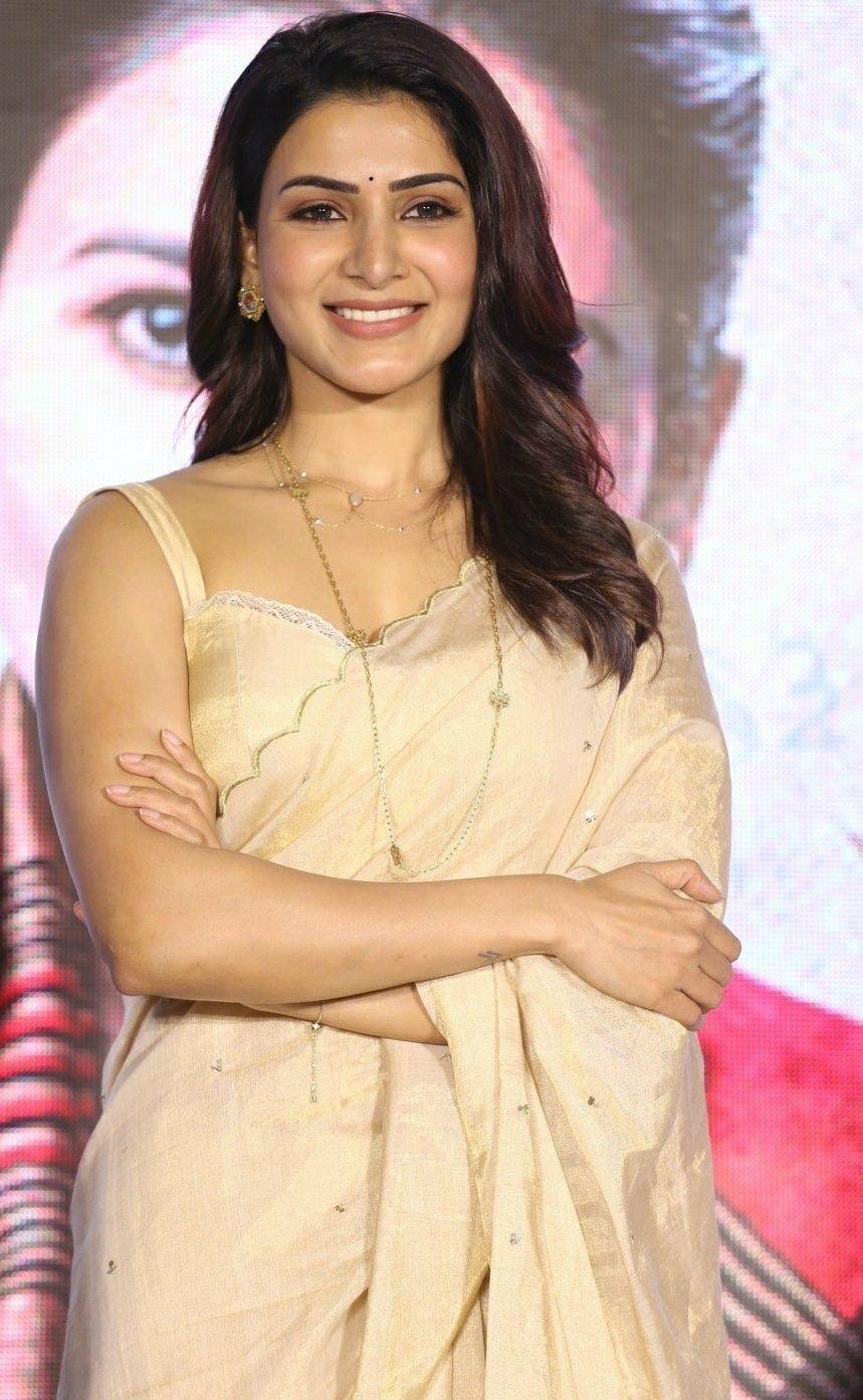 Samantha Akkineni in Chanderi silk sari latest photos Navel Queens
