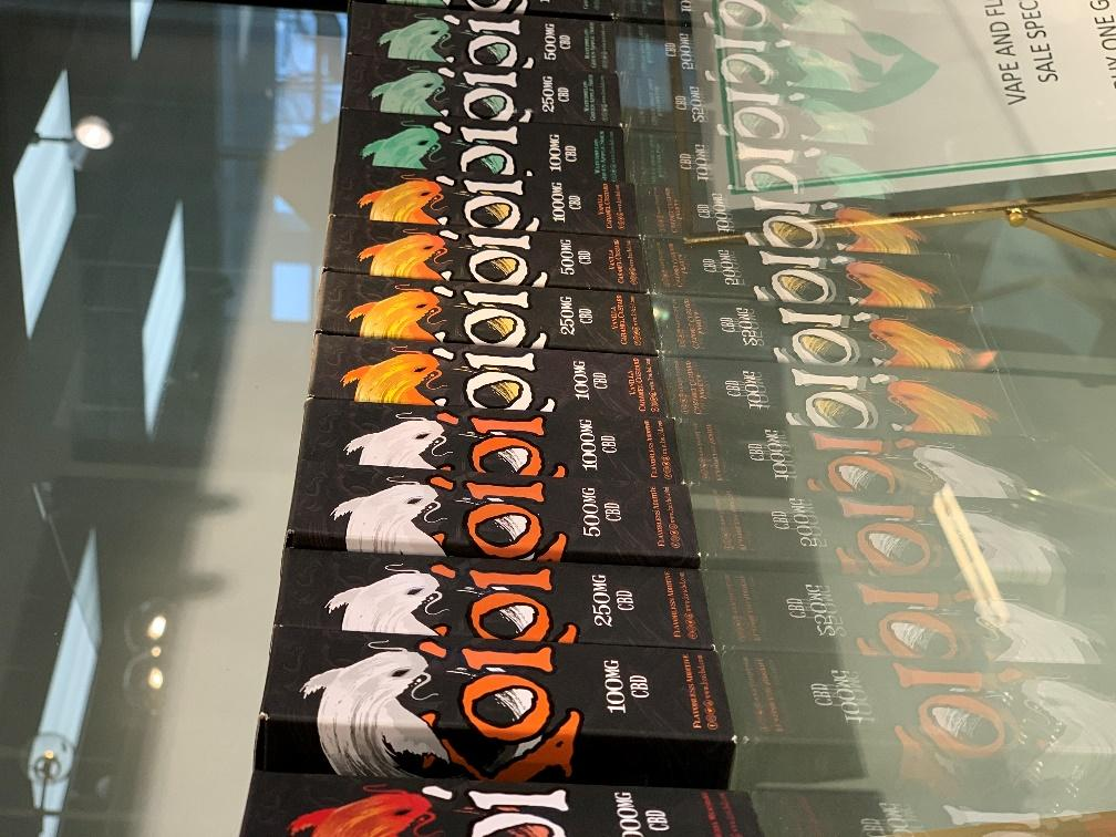 A series of Koi Vape Juice flavors displayed at The Green Dragon CBD.
