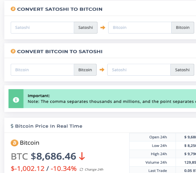 convertor satoshi în bitcoin opțiune binară cms