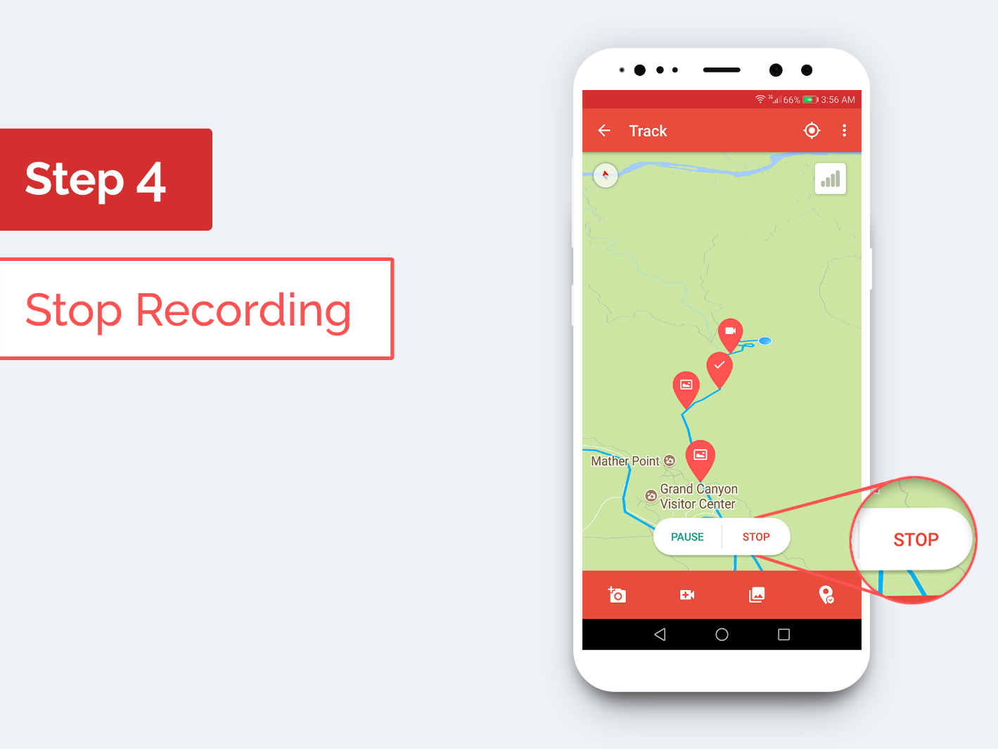 Traverous - Step 4: Stop Recording
