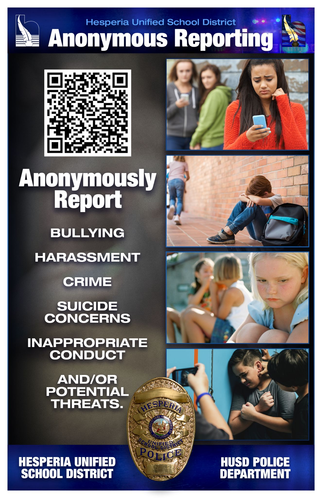 Anonymous Report Flyer