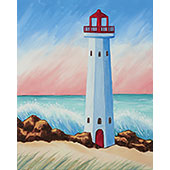 canvas painting design - Coastal Lighthouse