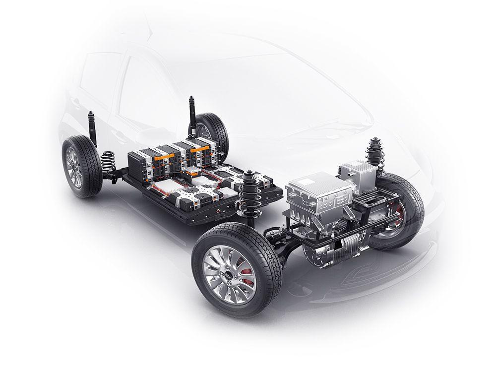 Posição das baterias favorece desempenho dos automóveis elétricos. (Fonte: Jac Motors/Divulgação)