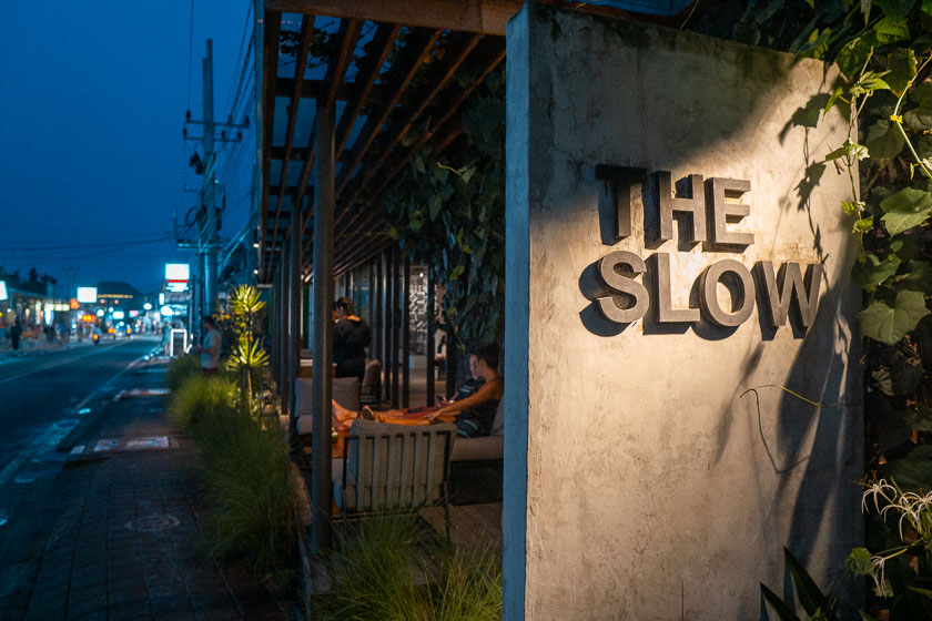 The Slow fine dining restaurant in Canggu.