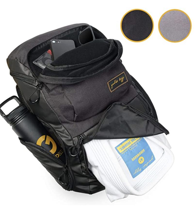 gold jiu jitsu gym bag