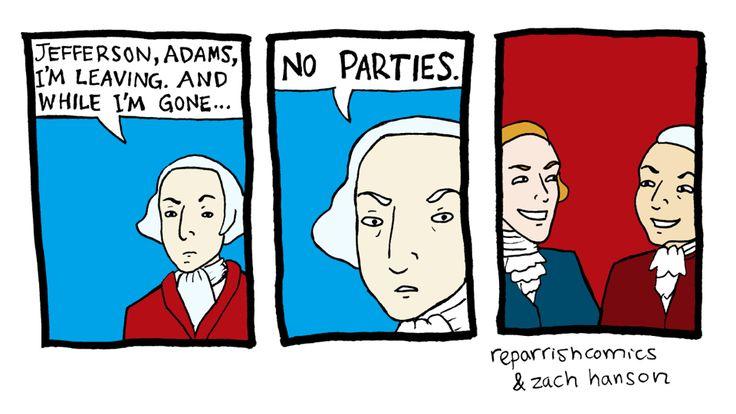Thoughtful Social Studies: Washington, Trump, and Clinton  |George Washington Warning Against Parties