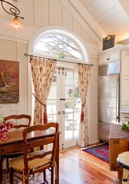 how to hang curtains on french doors