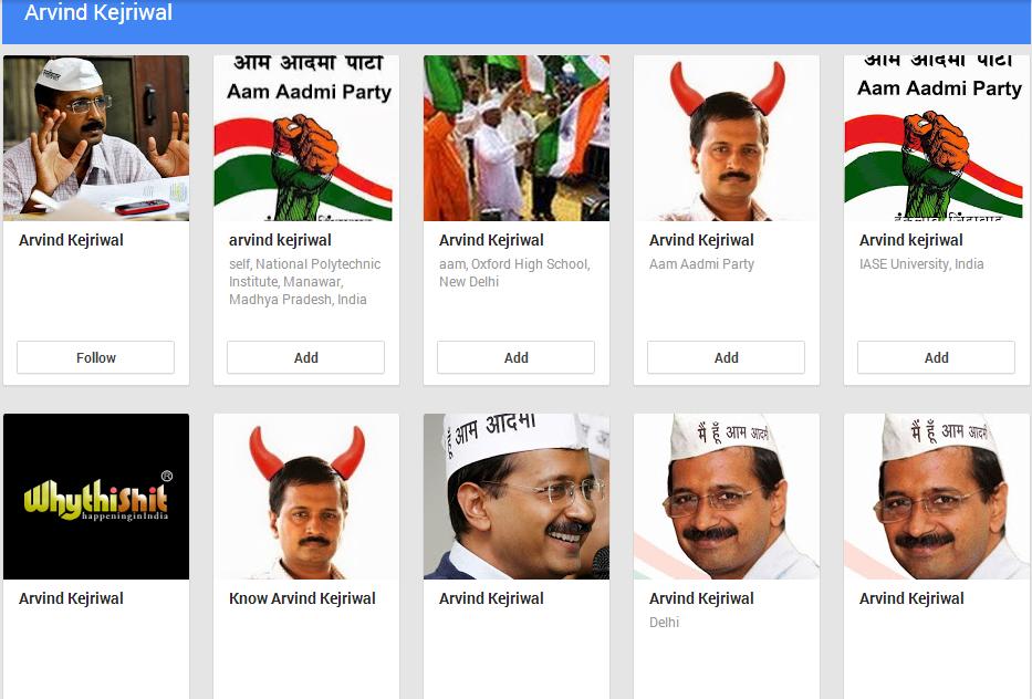 kejriwal google +