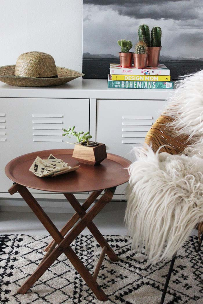 Copper End Table: 20 Cheap IKEA Hacks For The Home will help you save maney and transform your space.