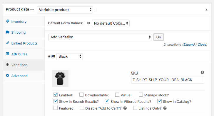 woocommerce product variations plugin