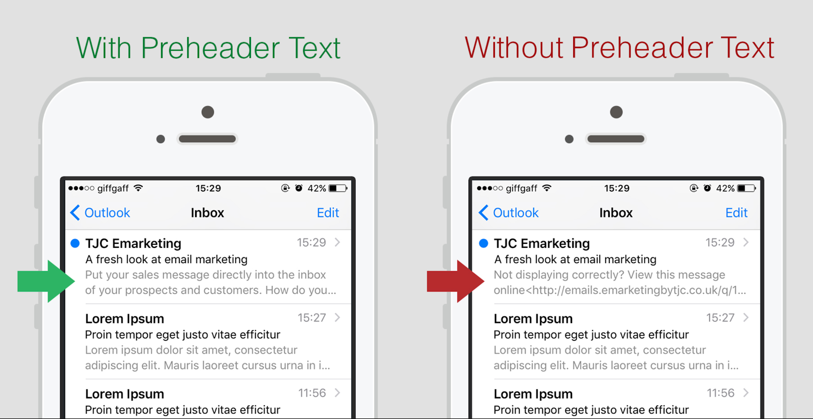 Email preheader text