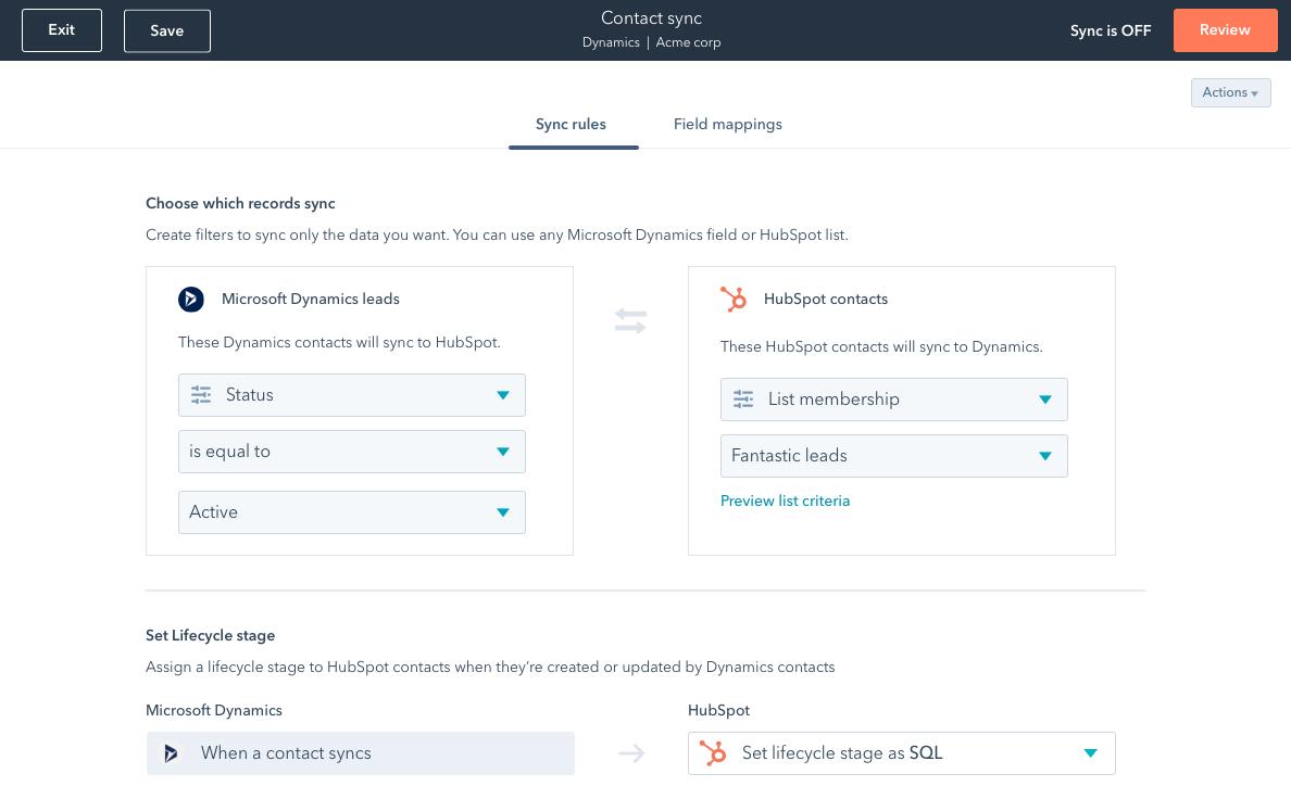 Data sync between HubSpot and an external tool