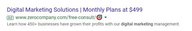 Google muestra emojis en la URL de los anunciantes de Google Ads 1