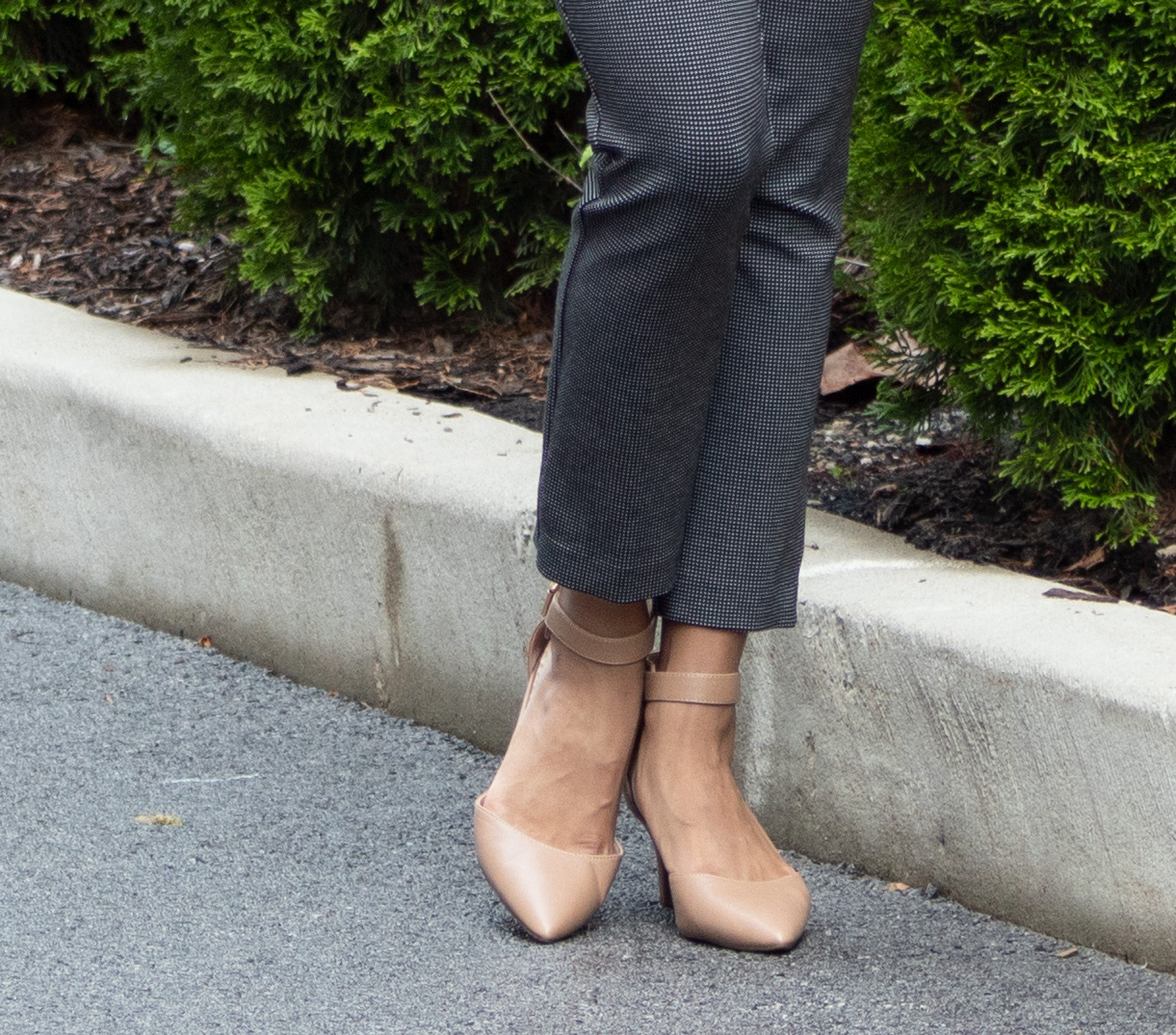 Ankle Pants & Nude Pumps Patience & Pearls