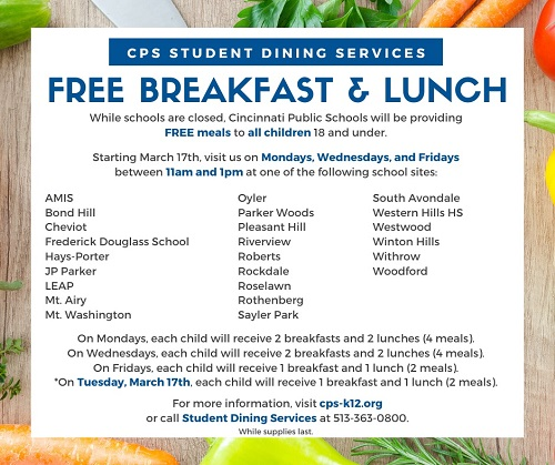 cps free meal locations