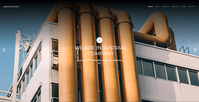 template web gratis industries