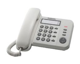 Panasonic - jednolinkový telefon, Data port, barva bílá