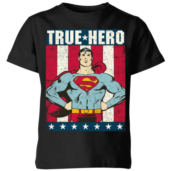DC Originals Superman True Hero Kids' T-Shirt - Black