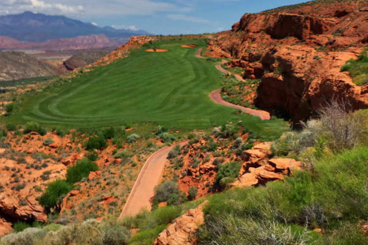 Sand Hollow golf course in hurricane Utah
