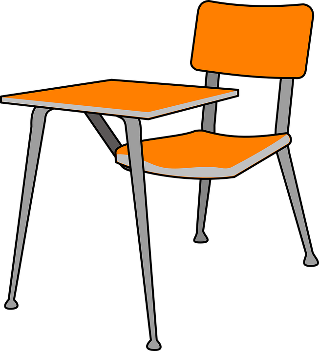 Desk, School, Chair, Classroom
