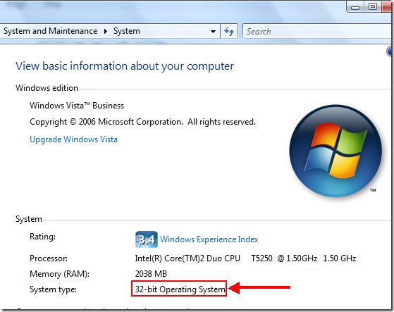 Cách xem thông tin hệ điều hành windown 7