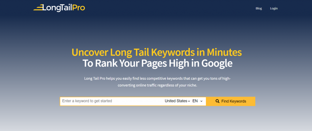 longtail pro pricing- keyword research, best blogging tools